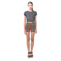 Azerbaijan Pattern 4 Briseis Skinny Shorts (Model L04)