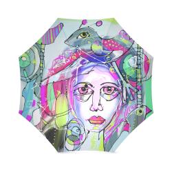 Abstract Girl Foldable Umbrella (Model U01)