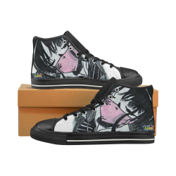 DarkBeats Women's Classic High Top Canvas Shoes (Model 017)