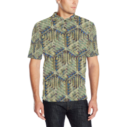 Peace Men's All Over Print Polo Shirt (Model T55)
