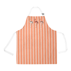 Living Coral Color Flamingos All Over Print Apron