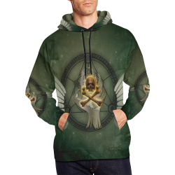 Skull in a hand All Over Print Hoodie for Men/Large Size (USA Size) (Model H13)