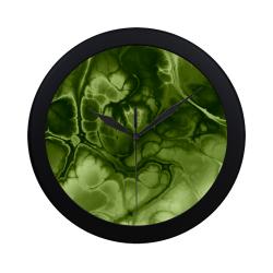 Alien DNA Green. Circular Plastic Wall clock