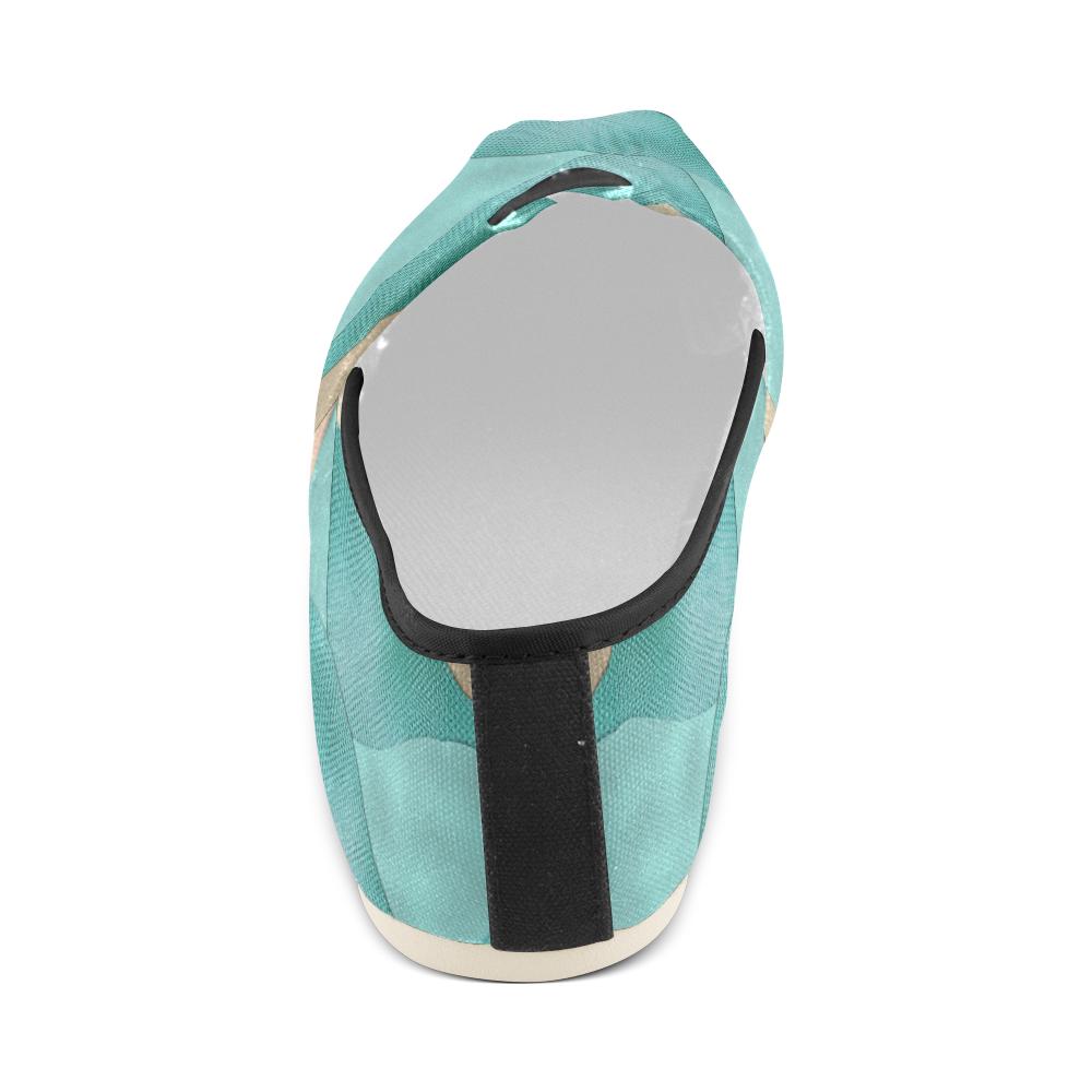 sun space #modern #art Unisex Casual Shoes (Model 004)