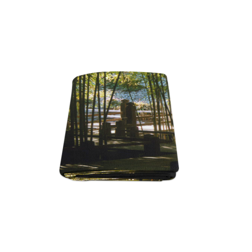 "Through The Bamboo Blanket 50""x60"""