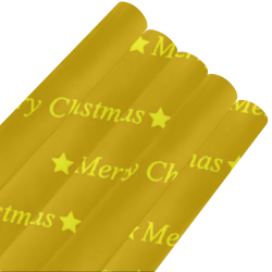 "merry christmas,text golden Gift Wrapping Paper 58""x 23"" (5 Rolls)"