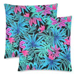 """leaves Custom Zippered Pillow Cases 18""""x 18"""" (Twin Sides) (Set of 2)"""