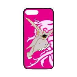 "Unicorn Skull Pink Rubber Case for iPhone 7 plus (5.5"")"