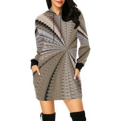 HEARTHY All Over Print Hoodie Mini Dress (Model H27)