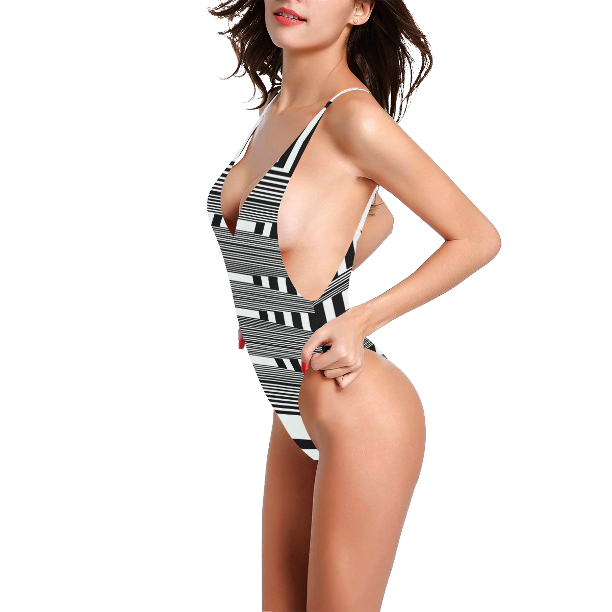Can't make up my mind Sexy Low Back One-Piece Swimsuit (Model S09)