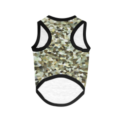 Mosaic Tiled Browns All Over Print Pet Tank Top