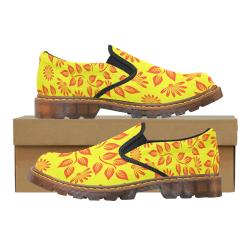 FLORAL DESIGN 2 Martin Women's Slip-On Loafer/Large Size (Model 12031)