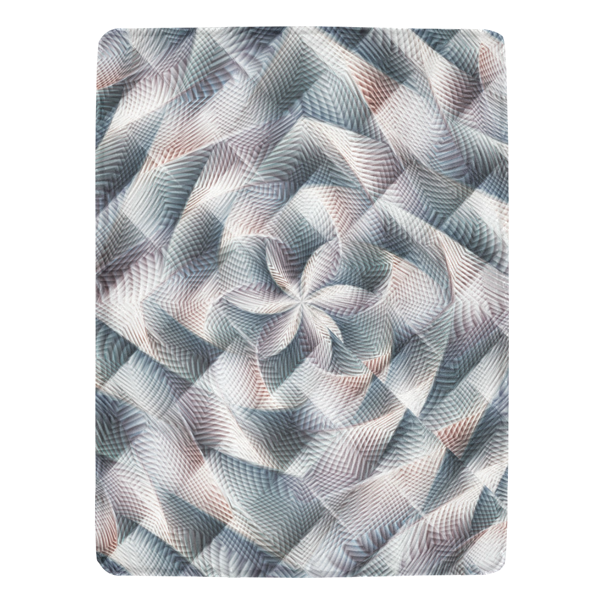 "Metallic Petals - Jera Nour Ultra-Soft Micro Fleece Blanket 60""x80"""