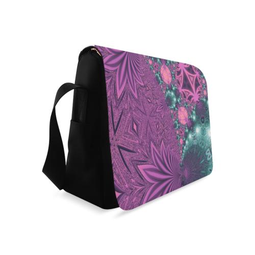 Pastel Jungle Leaves Messenger Bag (Model 1628)
