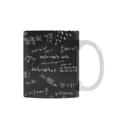 Mathematics Formulas Equations Numbers White Mug(11OZ)