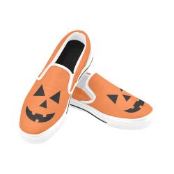Cara-Halloween Women's Unusual Slip-on Canvas Shoes (Model 019)