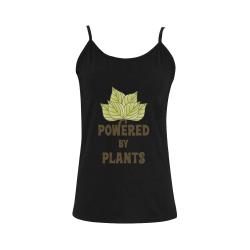 Powered by Plants (vegan) Women's Spaghetti Top (USA Size) (Model T34)