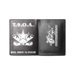 TSOA Paper Chasers Men's Leather Wallet (Model 1612)