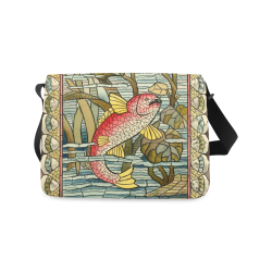 Art Fish Messenger Bag (Model 1628)