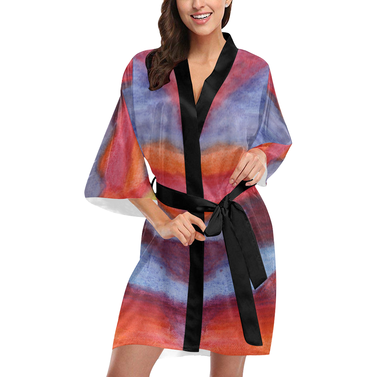 Colour Harmony Kimono Robe