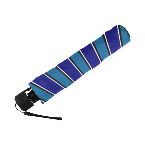 Classic Blue ZOOM Stripes Foldable Umbrella (Model U01)