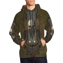 Awesome dark skull All Over Print Hoodie for Men/Large Size (USA Size) (Model H13)