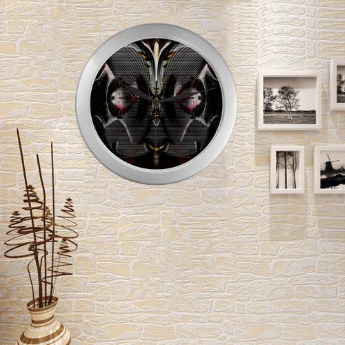 Alien Pilot Unit Silver Color Wall Clock