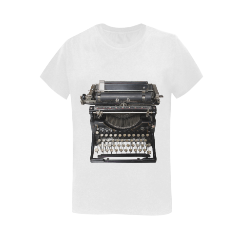 typewriter Women's T-Shirt in USA Size (Two Sides Printing)