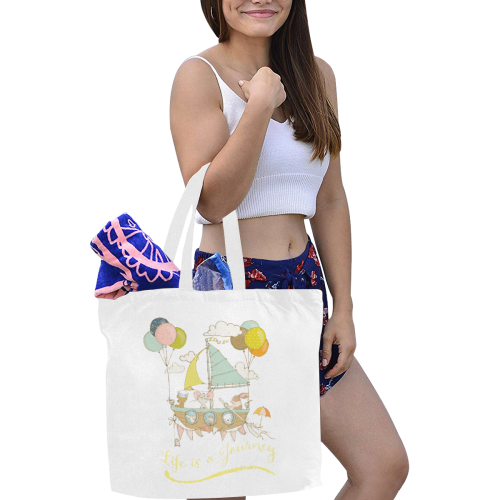 Life is a journey Canvas Tote Bag/Large (Model 1702)
