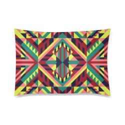 "Modern Geometric Pattern Custom Zippered Pillow Case 20""x30""(Twin Sides)"