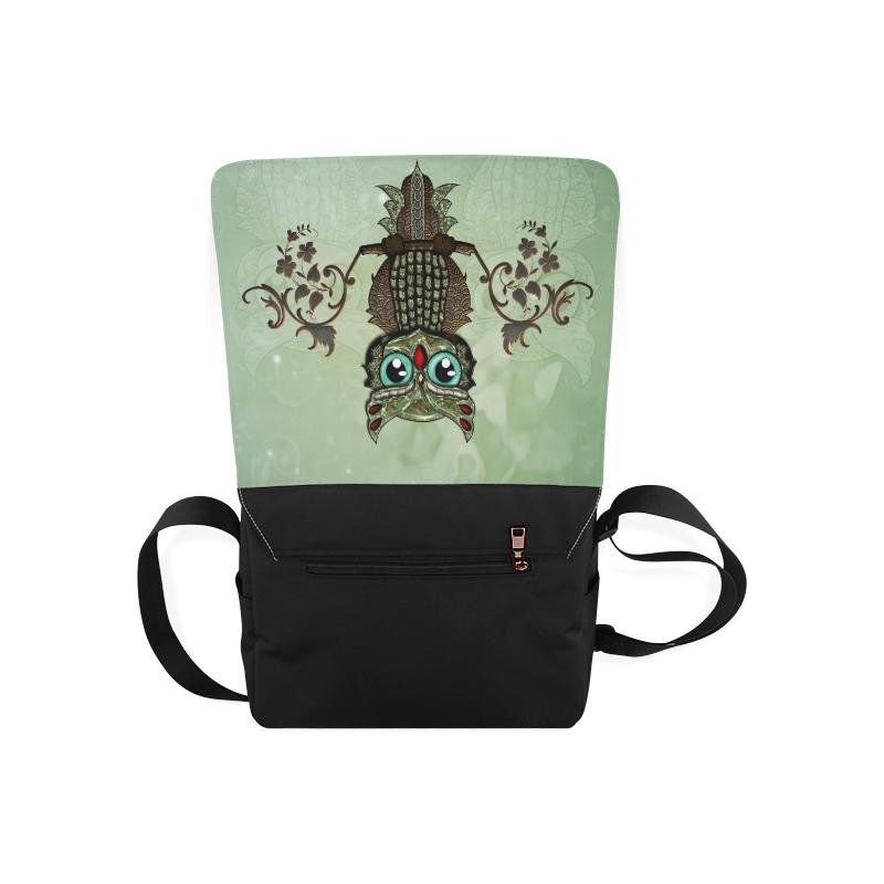 Wonderful owl, diamonds Messenger Bag (Model 1628)