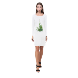 Vines, climbing plant watercolor Demeter Long Sleeve Nightdress (Model D03)