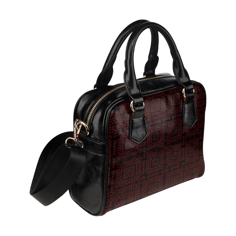 666 Devil Love Plaid Shoulder Handbag (Model 1634)