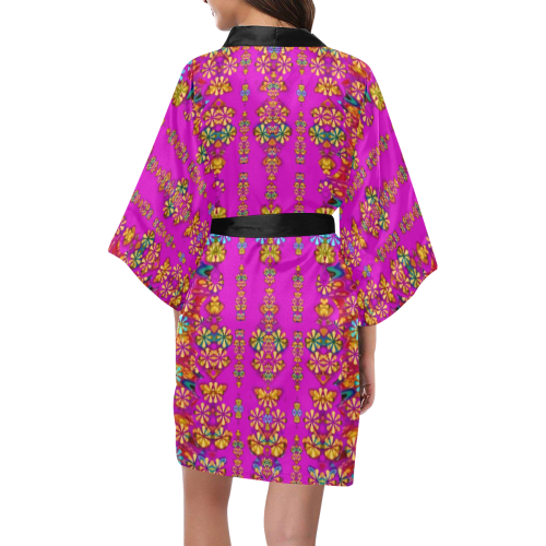 lianas excotic in floral decorative paradise style Kimono Robe