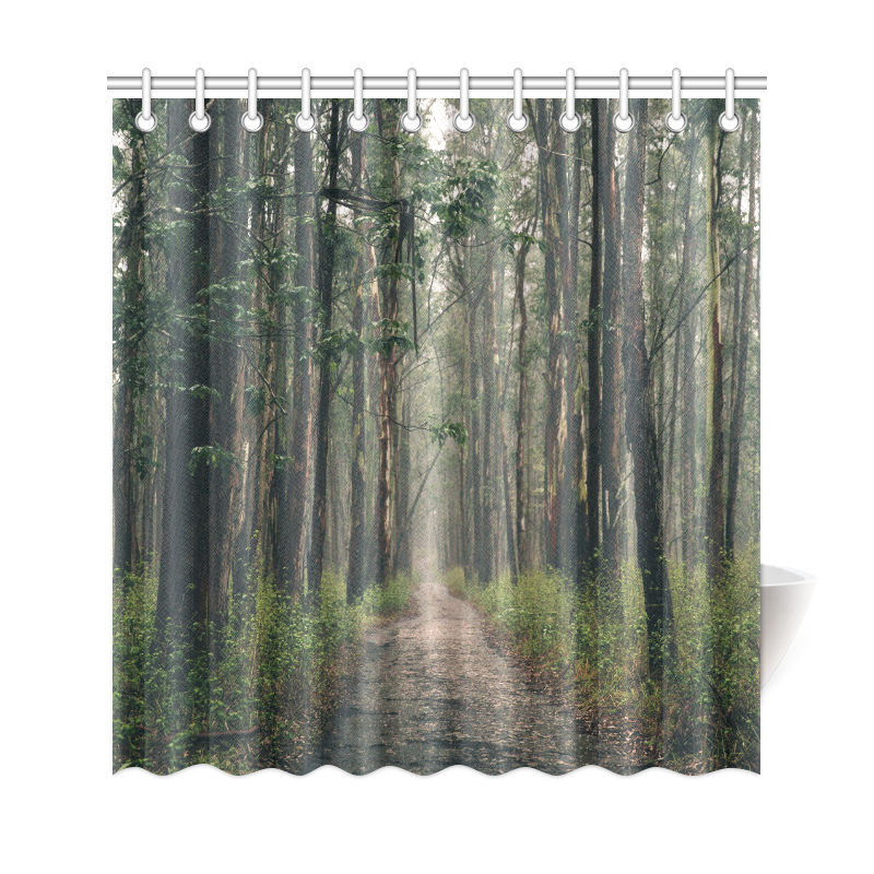 """long-forest-path2 Shower Curtain 69""""x72"""""""