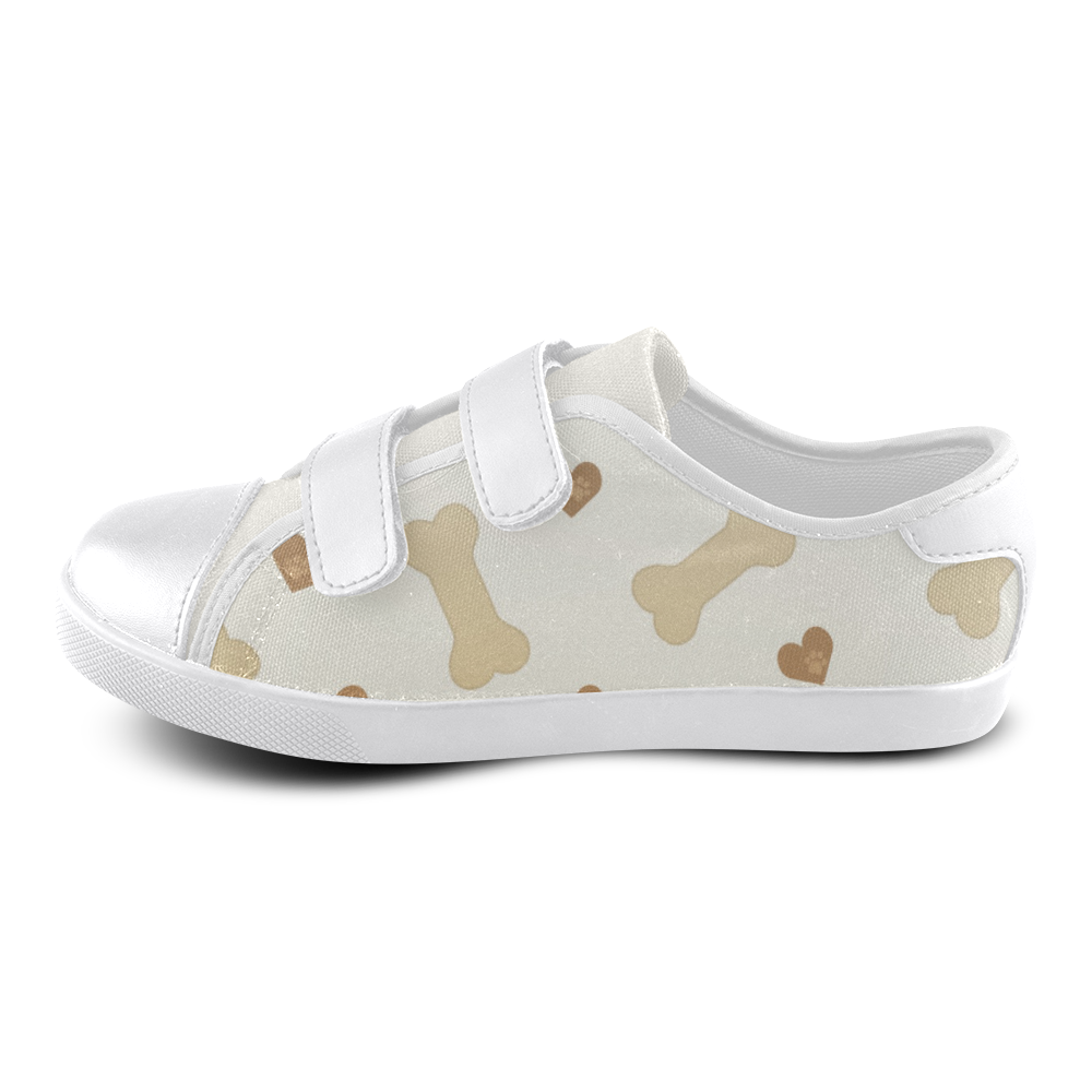 Heart and Biscuits Velcro Canvas Kid's Shoes (Model 008)