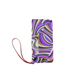 Groovy Retro Renewal - Purple Waves Women's Clutch Wallet (Model 1637)