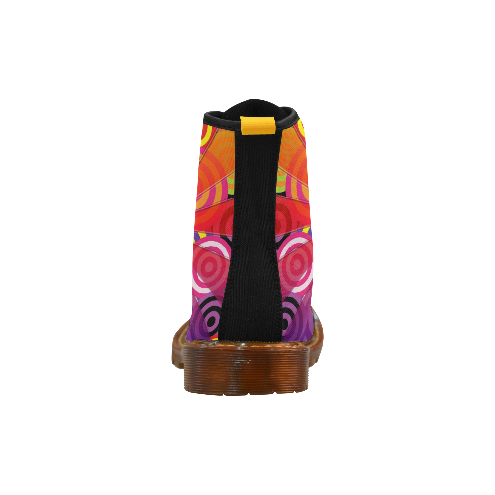 Hippie Travel Bus Martin Boots For Women Model 1203H