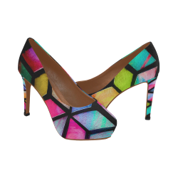 Kaleidoscope Armour Women's High Heels (Model 044)