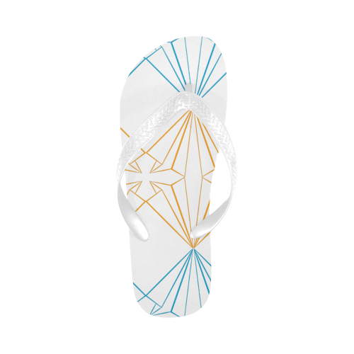 paper planes1 Flip Flops for Men/Women (Model 040)