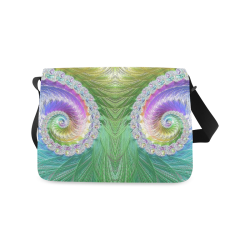 Frax Fractal Rainbow Messenger Bag (Model 1628)