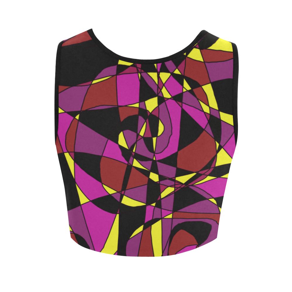 Multicolor Abstract Design S2020 Women's Crop Top (Model T42)