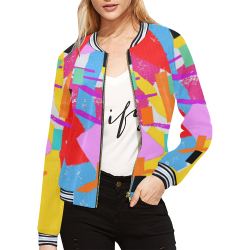 CONFETTI NIGHTS 2A All Over Print Bomber Jacket for Women (Model H21)