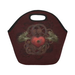 Fantastic Steampunk Heart Love Neoprene Lunch Bag/Small (Model 1669)