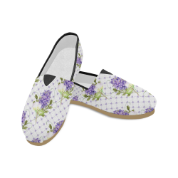 Lavender Flower Shoes, Floral Unisex Casual Shoes (Model 004)