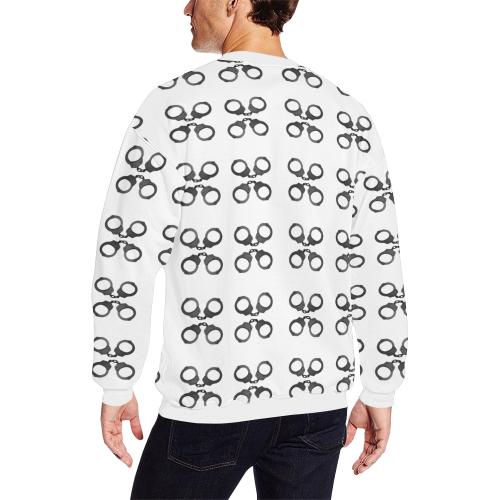 handcuffs Men's Oversized Fleece Crew Sweatshirt (Model H18)