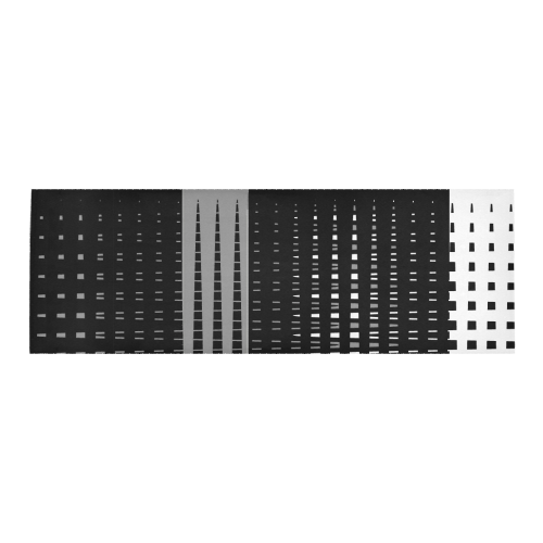 TriColor Fences by Jera Nour Area Rug 10'x3'3''
