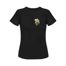 steampunk initials A brooch Women's Classic T-Shirt (Model T17)