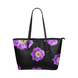 Fairlings Delight's Floral Luxury Collection- Purple Beauty 53086a1 Leather Tote Bag/Large (Model 1651)