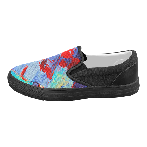 oil_k Women's Slip-on Canvas Shoes (Model 019)